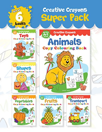 Copy Colouring Books Creative Crayons Super Pack - My First Art Series (Pack of 6 Books)