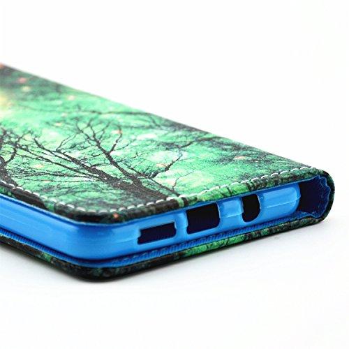Coque pour Apple iPhone 6S/ 6 4.7 Zoll ,Housse en cuir pour Apple iPhone 6S/ 6 4.7 Zoll ,Ecoway Colorful imprimé étui en cuir PU Cuir Flip Magnétique Portefeuille Etui Housse de Protection Coque Étui  luciole