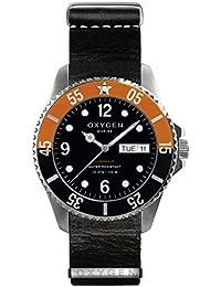 University Sports Press EX-D-SNK-44-NL-BL - Reloj de cuarzo unisex, correa de cuero color negro
