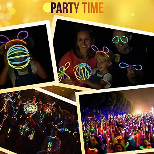 Imagen de 200pcs pulseras luminosas fiesta glow pulseras con los conectores 7 colores barras luminosas, pulseras, collares, gafas, bolas luminosas, flores para decoración de fiesta, cumpleaños y vacaciones alternativa