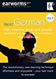RAPID GERMAN: 200+ essential words and phrases anchored into your long-term memory with great music. Vol. 1.  EARWORMS  mbt ( Musical Brain Trainer)