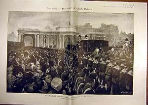 Cortège 1901 Funèbre de la Reine Victoria Alexandra Londres