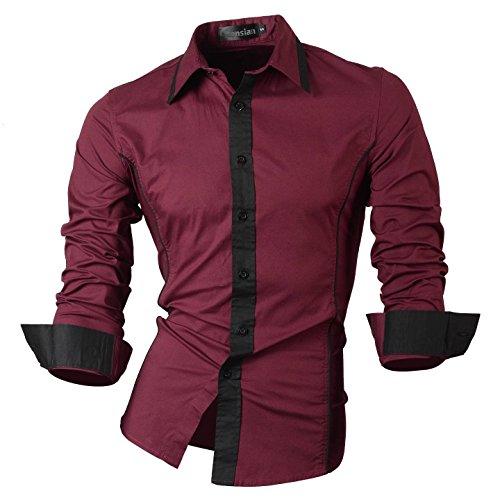 Jeansian -  Camicia Casual  - Uomo WineRed