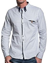BLZ jeans - Chemise homme blanche à motifs