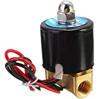 1/4 inch Electric Solenoid Valve Per Water Air Gas Diesel 12V DC