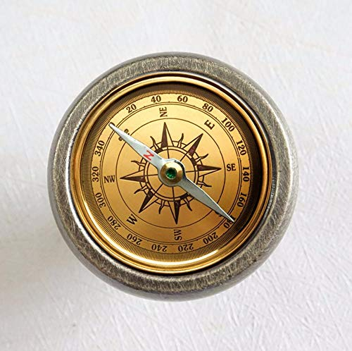 Kompass - Schubladengriff Antik Bronze/Kristall Schminktisch Schubladengriff @ Bronze -