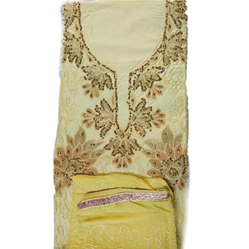 Rps Globe Traditional Beautiful and Attractive Yellow Color Cotton Unstiched Salwar Suit...
