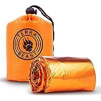 Sac de couchage durgence – pour abri et protection qui tient dans votre main – Tous les temps Bivy de survie pour le camping, randonnée et en extérieur ...