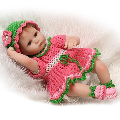 Pinky 42cm 17Inch Reborn Baby Dolls Girl Toddler Soft Silicone Newborn Doll Real Gentle Touch Babies Magnet Pacifier
