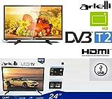 TV 24 Pollici Led HD ARIELLI 24' LED-24H19T2 Hdmi USB DIGITALE TERRESTRE T2...
