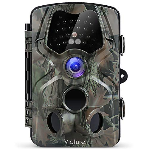"""Victure Wildkamera Fotofalle 1080P Full HD 12MP 120°Weitwinkel Vision Infrarote 20m Nachtsicht wasserdichte IP66 Überwachungskamera mit 2.4\"""" LCD Display für Haussicherheitsüberwachung und Outdoor"""
