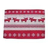Weihnachten Tapestry Tischsets Rentier Und Snowflake Printed Red