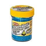 BerkleyPowerbait Natural Scent Trout Bait Glitter Garlic Blue