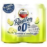24 x Amstel Radler 0% Citroen & Limoen (24 x 0,33L EU-Dosen) Alkoholfrei Zitrone & Lime
