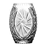 Crystaljulia 2374 Vase Bleikristall mit Dem Freien Feld, Schleudersternmuster, 20 cm