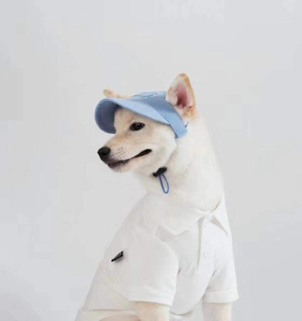 Embroidered baseball cap! Korea purchasing pet clothing pet hat Shiba Inu Akita clothes Baxi small shop@Blue – spot_M