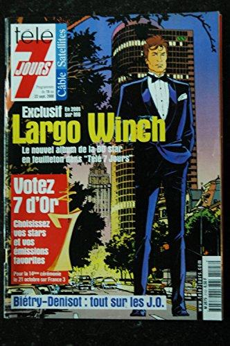 TELE 7 JOURS 2103 SEPTEMBRE 2000 COVER LARGO WINCH