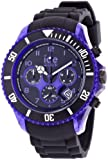 Ice-Watch Men's Quartz Watch with Black Dial Chronograph Display and Black Silicone Strap CH.KPE.BB.S.12