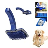 #4: Pet Dog Cat Grooming Self Cleaning Slicker Brush Comb Shedding Tool Hair Fur by Vasuworld