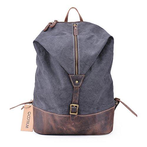 gootium-unisex-vintage-canvas-genuine-leather-backpack-rucksack-156-inch-laptop-bag-daypacks-grey