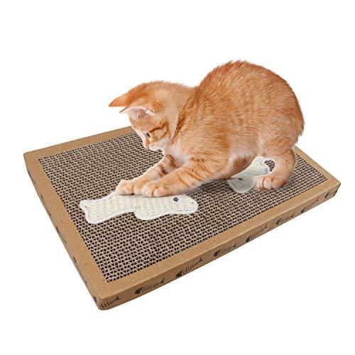 El rascador para gatos en alfombrilla NOBLEZA, contiene catnip, y elementos en sisal para mantener a su gato entretenido y saludable. --- Puede ser un juguete o una cama improvisada para tu felino. --- Incluye hierba gatera como elemento atractivo p...