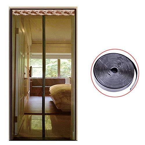 YSA Selbstdichtende Mesh Magnetic Screen Tür, Heavy Duty Magnetic Screen Tür, Anti Insect Bug Off Windproof Verbesserte Full Frame-B 90x205cm (35x81inch) -