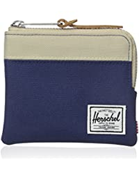 Herschel Supply Co. Men's Johnny Zippered Pouch Wallet Cream Blue