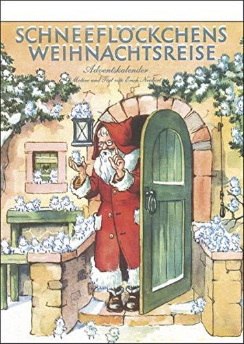 """""""Schneeflöckchens Weihnachtsreise"""" nostalgischer Adventskalender mit 24 Blättern zum Abreißen"""