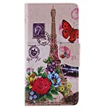 Nancen Compatible with Handyhülle Huawei P9 Lite (5,2 Zoll) Handy Lederhülle, Flip Case Wallet Cover with Stand Function, Folio Bookstyle Handytasche