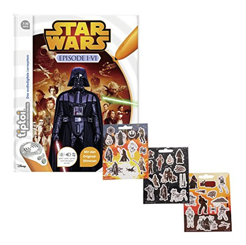tiptoi Ravensburger Star Wars  Episode I-VI + Star Wars Sticker