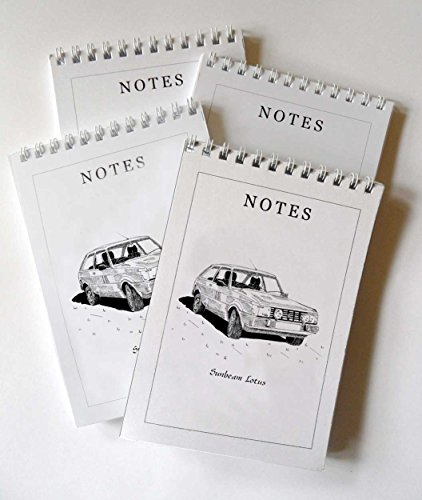 sunbeam-lotus-voiture-lot-de-4-bloc-notes-a6coffret-cadeau