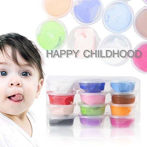 Kinderknete, innislink Knete Springknete Intelligente Knete Hüpfknete für Kinder DIY Handgemachtes Lernen - 12 Farben