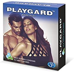 Playgard More Play Ice Mint Condoms - 3 Count (Pack of 10)