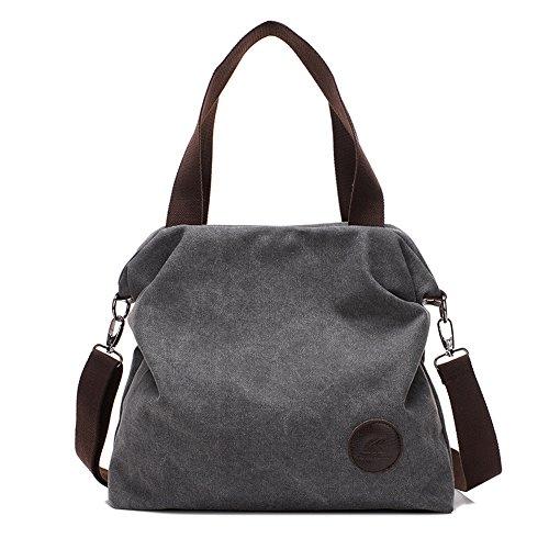 Sac à main Paracity de style vintage en toile, sac besace pour femmes, jeunes filles, étudiantes, sac à bandoulière gris