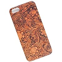 Slim Case for iPhone 5, 5s, SE. Tasche Cover. Tooled Leather Look.
