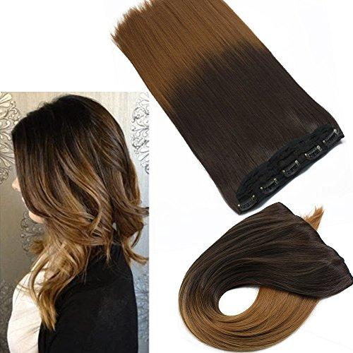 Neverland 24 pouces (60cm) 3/4 tete pleine One Piece 5clips clip en extensions de cheveux 6#/27#
