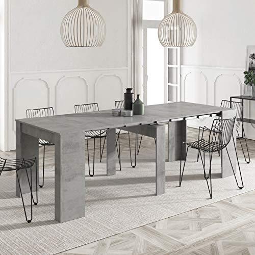 Habitdesign 004580L - Mesa de Comedor Consola Extensible, Mesa para Salon recibidor...