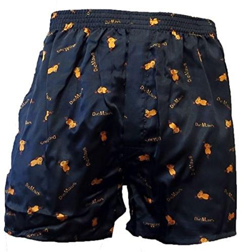 Sendung mit der MAUS BOXERSHORTS Herren Boxers Shorts Unterhosen Boxershorts, Farbe:4. Sleep/Schwarz;Größe:S (Herren Vordere Tasche Unterwäsche)