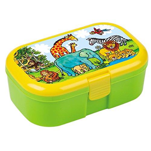 Lunchbox Zoo mit herausnehmbaren Obst und Gemüsefach (Lunch-box Safari)