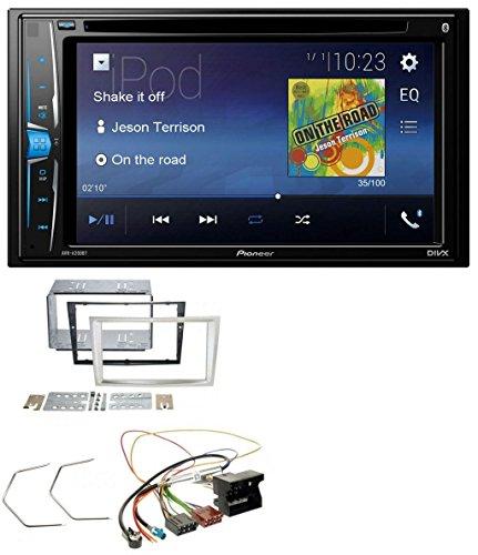 Pioneer AVH-A200BT USB DVD 2DIN Bluetooth CD MP3 Autoradio für Opel Corsa D Astra H Zafira B ab 2005 satin-stone (Hinten Doppel-passe)