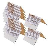 10x Vintage Hochzeit Partei Spitze-Tabellennummer / Einladung / Name / Platzkarten # 1 - 6