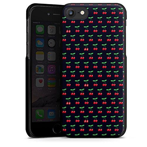 Apple iPhone X Silikon Hülle Case Schutzhülle Cherry Kirschen Pattern Hard Case schwarz