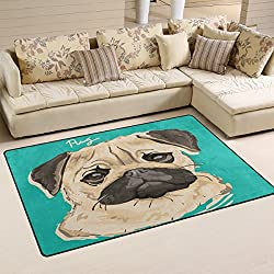 coosun CARLINO pintura área alfombra alfombra alfombra de suelo antideslizante Doormats para salón o dormitorio 60x 39cm, tela, multicolor, 31 x 20 inch