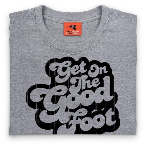 The Good Foot Vintage T-Shirt, Damen Grau Meliert