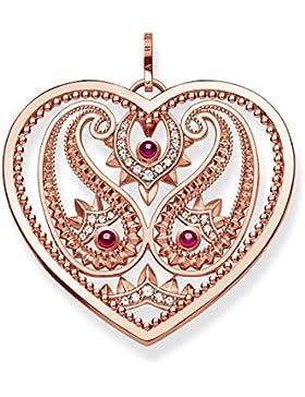Thomas Sabo Damen-Anhänger Paisley-Design Herz Glam & Soul 925 Sterling Silber 750 roségold vergoldet PE727-626-27
