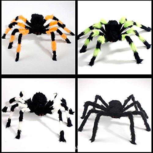 koll Prop Wide Spider Plüschtier für Halloween Party Scary Dekoration, 1 STÜCKE (30 cm, Zufällige Bunte) (Yard Dekoration Für Halloween)