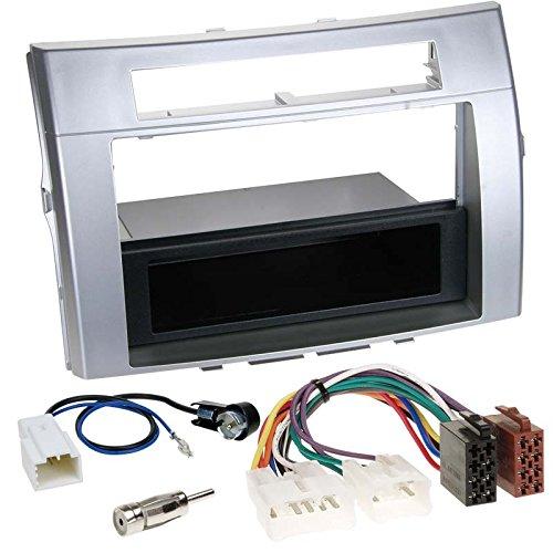 toyota-corolla-verso-04-09-1-din-autoradio-einbauset-inkl-kabel-adapter-und-radioblende-in-silber