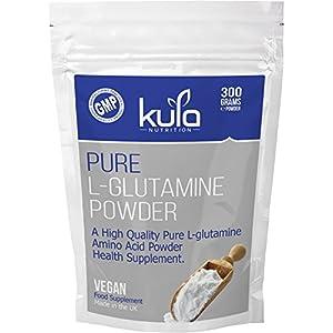 512xGJYr4vL. SS300  - Kula Nutrition Pure L Glutamine Powder - 300g (60 Servings) - Amino Acid Powder, Protein Building Blocks - Supplement…