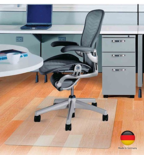 Bodenschutzmatte PET Allergiker geeignet transparent PVC Vinyl frei 2,0 mm stark (60 x 80 cm)