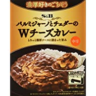 S&B Feast for People Liking Rich Parmigiano and Cheddar W-Cheese Curry Medium Spicy 150 g × 6 Japan